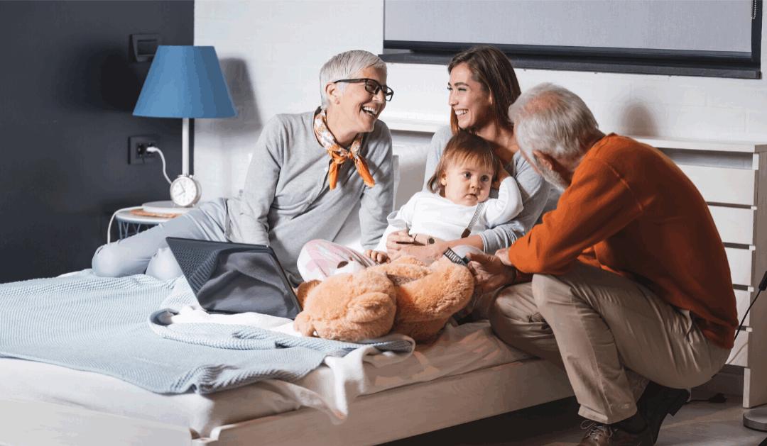 Holistic Celebrant with grandparents